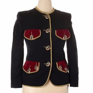 MOSCHINO COUTURE Comedy & Tragedy Military Jacket